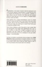 Lacan le Borroméen : creuser le noeud - 4ème de couverture - Format classique