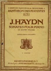 Sonates Pour Piano 1er Volume - Couverture - Format classique