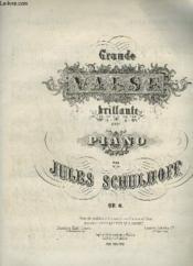 Grande Valse Brillante Pour Piano A 4 Mains. - Couverture - Format classique