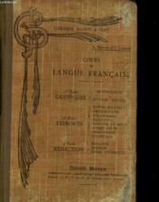 Cours De Langue Francaise - Cours Moyen - Couverture - Format classique