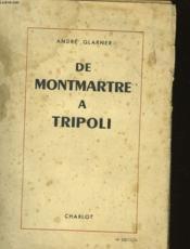 De Montmartre A Tropoli - Couverture - Format classique