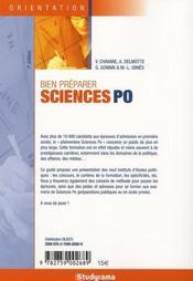 Bien préparer sciences po ; réussir son entrée dans un IEP - 4ème de couverture - Format classique