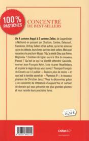 Concentré de best-sellers ; pastiches - 4ème de couverture - Format classique