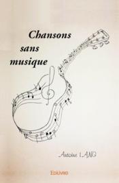 Chansons sans musique - Couverture - Format classique