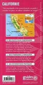 Californie - 4ème de couverture - Format classique
