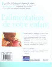 L'alimentation de votre enfant - 4ème de couverture - Format classique