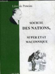 Societe Des Nations, Super Eetat Maconnique - Couverture - Format classique