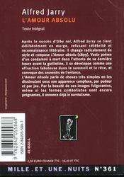 L'amour absolu - 4ème de couverture - Format classique