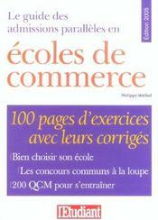 Le Guide Des Admissions Paralleles En Ecoles De Commerce - Intérieur - Format classique