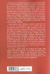 Enquete sur la nouvelle evangelisation - 4ème de couverture - Format classique