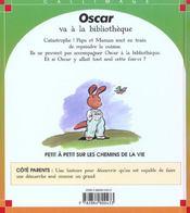 Oscar va a la bibliotheque - 4ème de couverture - Format classique