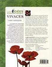 Idées du Jardinier Paresseux - Vivaces - 4ème de couverture - Format classique