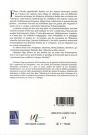 Pratiques théatrales dans l'éducation en France au XXe siècle: aliénation ou émancipation ? - 4ème de couverture - Format classique