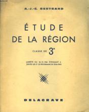 ETUDE DE LA REGION. CLASSE DE 3e. SPECIMEN. - Couverture - Format classique