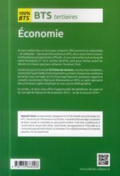 Bts tertiaires - economie - programme 1re et 2e annees - 4ème de couverture - Format classique