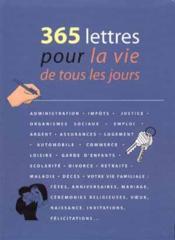 365 Lettres Pour La Vie De Tous Les Jours - Couverture - Format classique