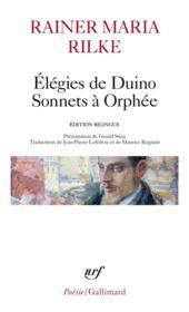 Élégies de Duino ; sonnets à Orphée - Couverture - Format classique