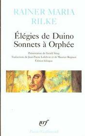 Élégies de Duino ; sonnets à Orphée - Intérieur - Format classique