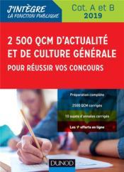 3000 QCM d'actualité et de culture générale pour réussir vos concours ; catégorie B et C (édition 2018/2019) - Couverture - Format classique
