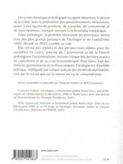 Leur écologie et la nôtre ; anthologie d'écologie politique - 4ème de couverture - Format classique
