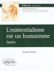 L'existentialisme est un humanisme sartre texte et commentaire - Intérieur - Format classique