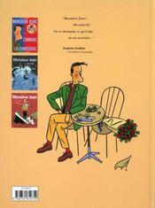 Monsieur Jean t.1 ; monsieur Jean, l'amour, la concierge - 4ème de couverture - Format classique