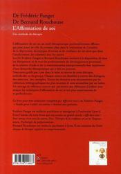 L'affirmation de soi ; une méthode de thérapie - 4ème de couverture - Format classique