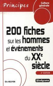200 fiches sur les hommes et évènements du XX siècle (2e édition) - Intérieur - Format classique