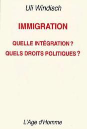Immigration - Couverture - Format classique