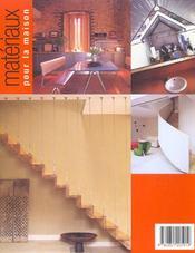 Materiaux Pour La Maison - 4ème de couverture - Format classique