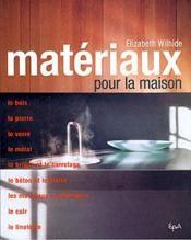 Materiaux Pour La Maison - Couverture - Format classique
