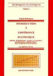 Introduction a l'inference statistique 2eme edition techniques statistiques volume 3 - Couverture - Format classique