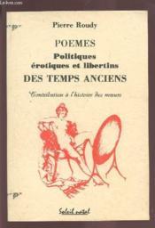 Poemes Politiques Erotiques Libertins - Couverture - Format classique
