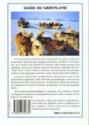 Le groenland - 4ème de couverture - Format classique