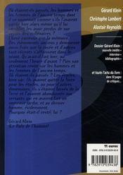 Dossier Gérard Klein : l'étoffe des héros - 4ème de couverture - Format classique