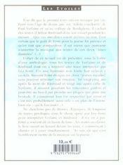 Verlaine et Rimbaud ; poèmes en chansons - 4ème de couverture - Format classique