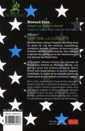 Une histoire populaire des USA pour les ados et les autres t.1 ; 1492-1898 ; la conquête - 4ème de couverture - Format classique