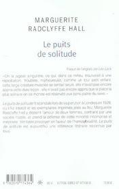 Le Puits De Solitude - 4ème de couverture - Format classique