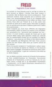 Freud, fragments d'une histoire - 4ème de couverture - Format classique