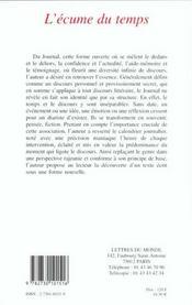 L'Ecume Du Temps - 4ème de couverture - Format classique