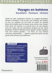 Voyages en bohème - 4ème de couverture - Format classique