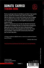 Tenebra roma - 4ème de couverture - Format classique