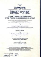 Le grand livre des énigmes du sphinx - 4ème de couverture - Format classique