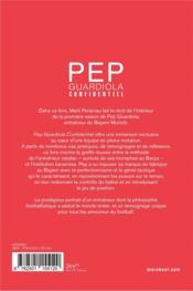 Pep Guardiola confidential - 4ème de couverture - Format classique