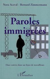 Paroles immigrées ; onze soirées dans un foyer de travailleurs - Intérieur - Format classique