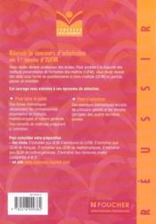 Reussir Le Concours D'Admission En 1ere Annee D'Iufm - Couverture - Format classique
