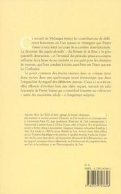 Etudes Transversales. Melanges En L'Honneur De Pierre Vaisse - 4ème de couverture - Format classique
