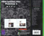 Effets Speciaux Avec Photoshop 6 - 4ème de couverture - Format classique