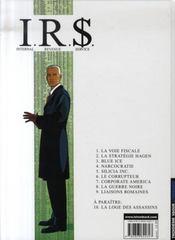 I.R.$ t.9 ; liaisons romaines - 4ème de couverture - Format classique