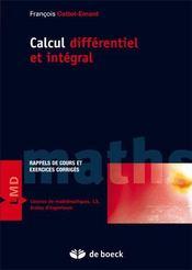 Calcul différentiel et intégral ; exercices et problèmes corrigés - Intérieur - Format classique